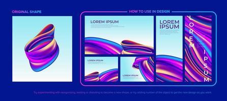 pacote de design fluido colorido abstrato