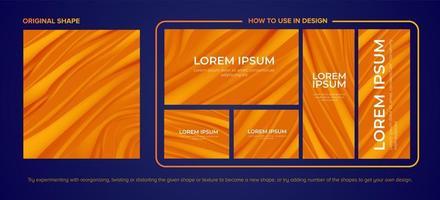 pacote de design de dois tons de canyon laranja
