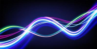 design de ondas de luz do obturador lento vetor