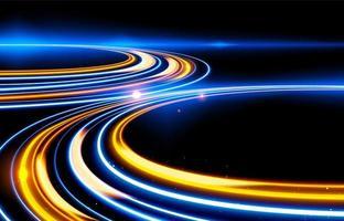 design de efeito de trilhas de luz lenta do obturador vetor