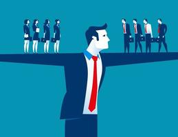 gerente masculino e equipe de negócios vetor