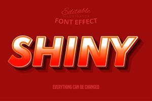 Efeito de texto brilhante 3D para design moderno vetor