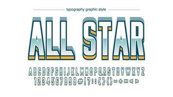 cromo branco bold (realce) 3d esportes tipografia vetor