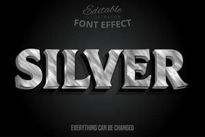 efeito de texto prateado em mármore metálico