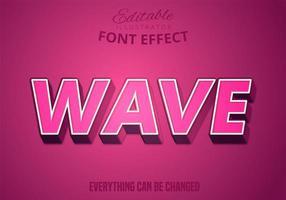 texto de onda, efeito de texto editável vetor