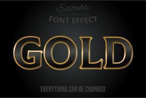 efeito de texto padrão preto com extrusão de ouro