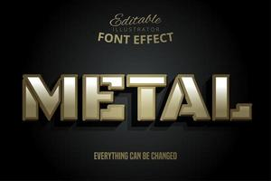 efeito de texto de bloco de metal cinematográfico vetor
