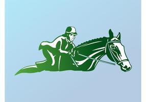 Logotipo de equitação vetor