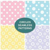 conjunto pastel padrão sem emenda de círculos
