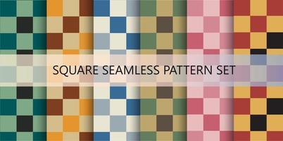 padrão sem emenda colorido de quadrados vetor