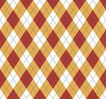 argyle sem costura padrão vermelho e amarelo vetor