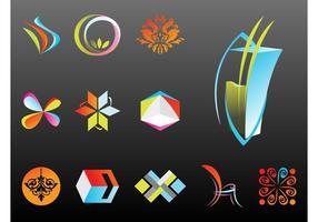 Modelos de logotipo abstratos vetor