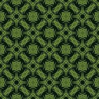 padrão de detalhes frondosos verde claro vetor