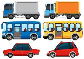 conjunto de caminhões e veículos vetor