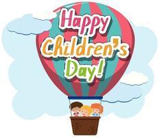 feliz dia das crianças balão poster vetor