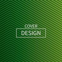 design de capa mínima de linha verde vetor