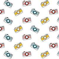 padrão de câmera retro em fundo branco vetor