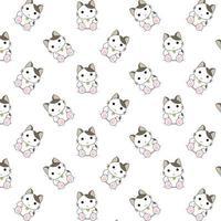 gatos dos desenhos animados sentado vetor