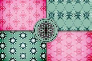 conjunto padrão decorativo ornamental