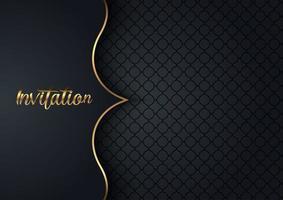 design elegante convite da Marinha com padrão vetor
