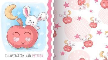 coelho com padrão de maçã