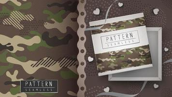 padrão sem emenda militar de camuflagem vetor