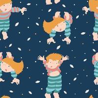 padrão de festa do pijama vetor