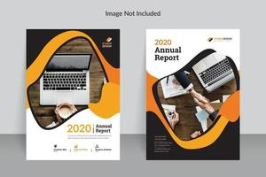 relatório anual de negócios modelo design cor laranja