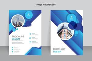 design de modelo de relatório anual de negócios limpos azul