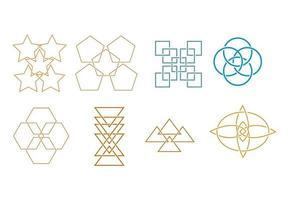 conjunto de elementos de ícone de forma abstrata vetor
