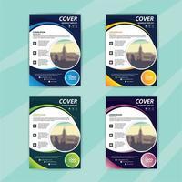 modelo de panfleto de negócios conjunto com redemoinhos coloridos