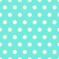 padrão de bolinhas aqua sem costura vetor