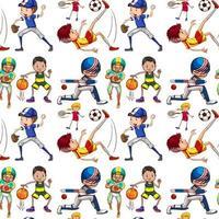 plano de fundo sem emenda com crianças fazendo esportes vetor