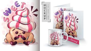 croissant doce poster e merchandising