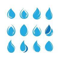 conjunto de ícones de gota de água vetor