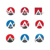 carta um logotipo definido em círculos vetor