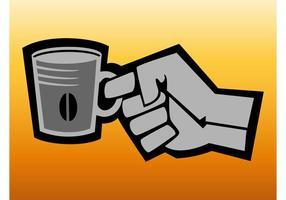 Logotipo retro do café vetor