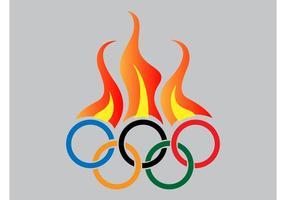 Vetor de fogo olimpico