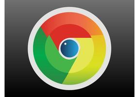 Logotipo do Google Chrome vetor