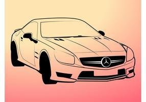 Esboços de Mercedes Benz vetor