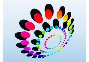 Logotipo dos círculos vetor