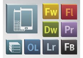 Ícones de Adobe vetor