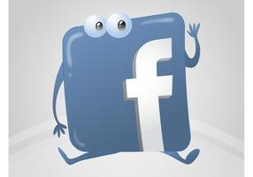 Desenhos animados do logotipo do Facebook vetor