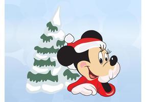 Natal de Minnie Mouse vetor