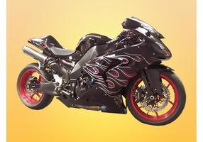 Motocicleta Kawasaki vetor