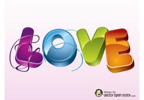 Logotipo do vetor do amor