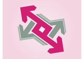 Logo de setas vetor