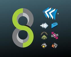 Desenhos de logotipo abstratos vetor