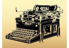 Máquina de escrever real vetor