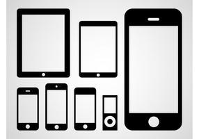 Vetor de dispositivos da Apple